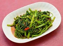 Beweeg Fried Vegetables op plaat Royalty-vrije Stock Afbeelding