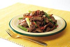 Beweeg gebraden gerechtrundvlees Stock Fotografie