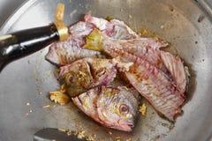 Beweeg gebraden gerechtvissen Stock Foto