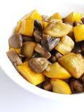 Beweeg gebraden organische vegetariër Stock Foto's