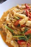 Beweeg gebraden pijlinktvis met gezouten eierdooier Royalty-vrije Stock Foto