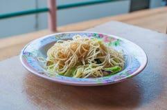 Beweeg gebraden rijstnoedels vegetarische Yangshuo Stock Foto's