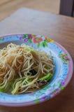 Beweeg gebraden rijstnoedels vegetarische Yangshuo Royalty-vrije Stock Afbeeldingen