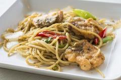 Beweeg gebraden Spaghetti Royalty-vrije Stock Afbeelding