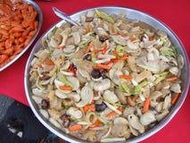 Beweeg gebraden Thaise groenten, Thailand. Royalty-vrije Stock Afbeeldingen