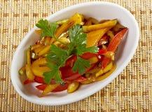 Beweeg geroosterd Fried Vegetables Stock Afbeeldingen