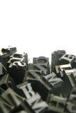 Beweegbaar type - achtergrond Stock Foto's