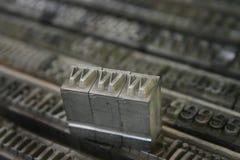 Beweegbaar type WWW Stock Foto's