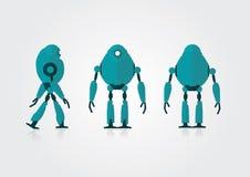 Beweegbare 3 meningenrobot op de grijze achtergrond Royalty-vrije Stock Afbeelding