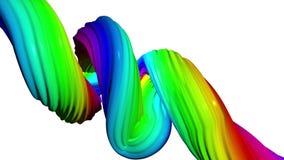Bewegen bunt von den abstrakten Linien Weißer Hintergrund vektor abbildung