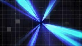 Bewegen durch einen Tunnel geführt durch Lichtstrahlen lizenzfreie abbildung