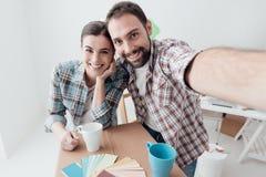 Bewegen in ein neues Haus lizenzfreies stockfoto