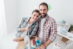 Bewegen in ein neues Haus lizenzfreies stockbild