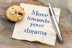 Bewegen Sie sich in Richtung zu Ihrem Traum lizenzfreie stockfotos