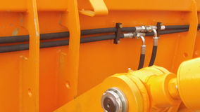 Bewegen Traktor ` s hidraulic Teils stock video footage
