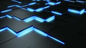 Bewegend stadium van blauwe donkere oppervlakte stock videobeelden