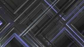 Bewegend stadium van blauwe donkere oppervlakte royalty-vrije illustratie
