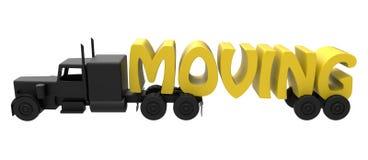 Bewegend vrachtwagenconcept vector illustratie