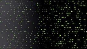 Bewegende aantallen in groene kleuren stock illustratie