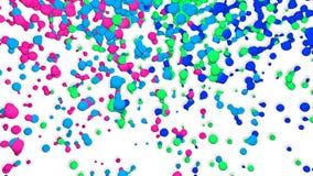 Bewegende Colores-Deeltjes stock video