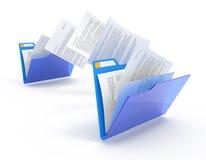 Bewegende documenten. Royalty-vrije Stock Afbeeldingen