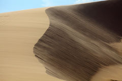 Bewegende Duinen in Mui Ne, Vietnam Stock Afbeeldingen