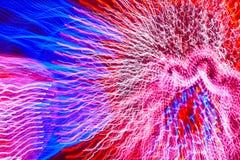 Bewegende gekleurde lichtenachtergrond Abstracte achtergrond horizontaal Royalty-vrije Stock Fotografie