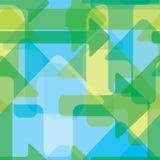 Bewegende kleurrijke transparante pijlen, naadloos vectorpatroon Stock Afbeelding