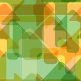 Bewegende kleurrijke transparante pijlen, naadloos vectorpatroon Stock Foto's