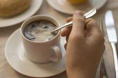 Bewegende koffie Stock Fotografie