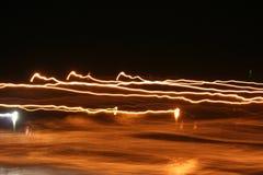 Bewegende lichten stock foto's