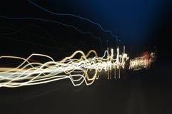 Bewegende lichten Royalty-vrije Stock Foto's