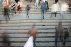 Bewegende menigten Stock Foto