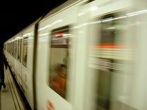 Bewegende Metro Royalty-vrije Stock Afbeeldingen