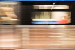 Bewegende metro Royalty-vrije Stock Foto's