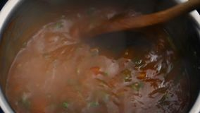 Bewegende Plantaardige Hutspot stock footage