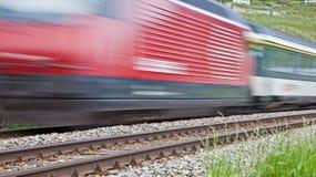 Bewegende regionale trein Royalty-vrije Stock Fotografie
