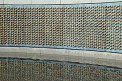 Bewegende scène in de Muur van Vrijheid, waar elke ster 100 militairen, Washington, gelijkstroom, 2015 vertegenwoordigt Stock Foto