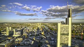 Bewegende Skyline-Schatten stock footage