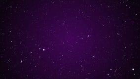 Bewegende Sterne winken Partikel Backgroundon dunkelblaue Steigung zu stock abbildung