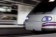 Bewegende trein Stock Foto