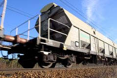 Bewegende trein Royalty-vrije Stock Foto
