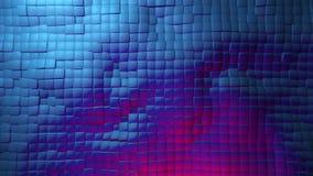 Bewegende vierkanten in blauwe kleur vector illustratie