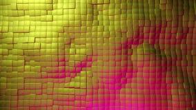 Bewegende vierkanten in gouden kleur vector illustratie
