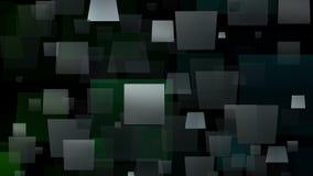 Bewegende vierkanten in grijze en groene kleuren royalty-vrije illustratie