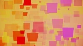 Bewegende vierkanten op gele kleur royalty-vrije illustratie