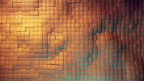 Bewegende vierkanten in oranje kleur royalty-vrije illustratie
