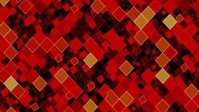Bewegende vierkanten in rood en zwart vector illustratie