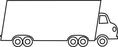 Bewegende Vrachtwagen Stock Foto