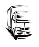 Bewegende vrachtwagen Stock Fotografie